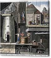 A Brewhouse, 1747 Canvas Print