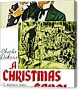 A Christmas Carol Movie Poster 1938 Canvas Print
