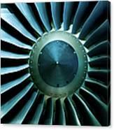 A Close Of Up A Turbine Showing The Canvas Print