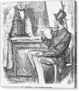 A Cool Customer. 1871 Canvas Print