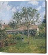 A Corner Of The Meadow At Eragny, 1902 Canvas Print