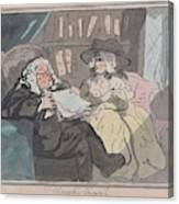 A Counselor's Opinion After He Had Retired From Practice After Thomas Rowlandson British, London 17 Canvas Print