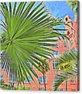 A Don Cesar Palm Frond Canvas Print