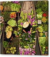 A Floating Market On A Canal In Canvas Print