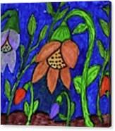 A Flower Garden Canvas Print