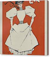 A Gaiety Girl, 1894 French Vintage Poster Canvas Print