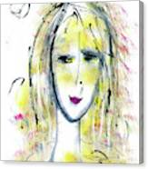 A Girl By The Artist Catalina Lira Canvas Print