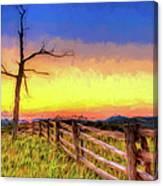 A Gorgeous Blue Ridge Sunrise Ap Canvas Print