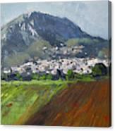 A Greek Village Canvas Print