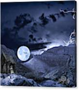 A Haunted Mountain Pass Canvas Print