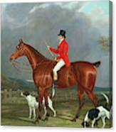 A Huntsman And Hounds, 1824  Canvas Print