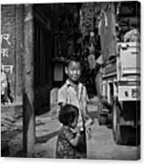 A Kathmandu Scene Canvas Print