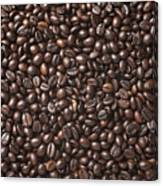 A Lot Of Roasted Coffee Beans Which Canvas Print