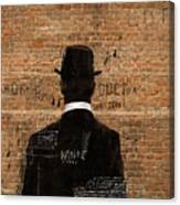 A Man In A Hat Who Turned His Back On Us Canvas Print