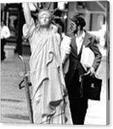 A Model Of Lady Liberty Was Being Sold Canvas Print
