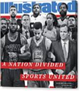 A Nation Divided, Sports United Sports Illustrated Cover Canvas Print