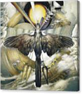 A Painting Alludes To Powers That Might Enable Birds To Migrate. Canvas Print