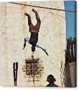 A Pair Of Stuntmen Perform At Old Tucson Canvas Print