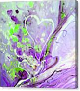A  Purple Love Story Canvas Print