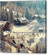 A Quaint Village In The Swiss Alps Canvas Print