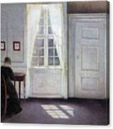 A Room In The Artist's Home In Strandgade, Copenhagen, With The Artist's Wife - Digital Remastered Canvas Print