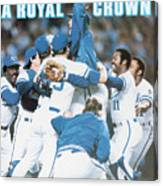 A Royal Crown 1985 World Series Sports Illustrated Cover Canvas Print