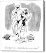 A Sexy Crime Canvas Print
