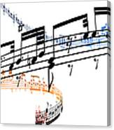 A Stave Of Music Canvas Print