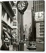 A Street Clock On Fifth Ave., Nyc Canvas Print