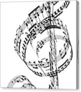 A Treble Clef Made From Beethovens Canvas Print