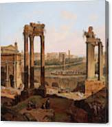 A View Of The Forum Romanum Canvas Print