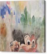 A Walk With Walt Canvas Print