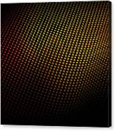 A Wave Pattern Of Dots Over Shadow Canvas Print