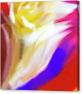 A White Rose In An Abstract Style. Canvas Print