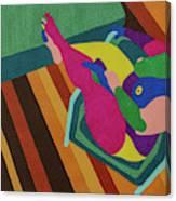 A Woman In A Chair Canvas Print