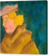 A Woman In A Fur Canvas Print