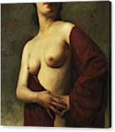 A Young Woman Canvas Print