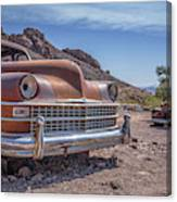 Abandoned Cars In The Desert Canvas Print