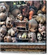 Abandoned Doll Heads Canvas Print
