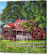 Abandoned Old Farm House Canvas Print