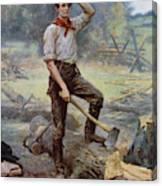 Abe Lincoln The Rail Splitter  Canvas Print