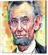 Abraham Lincoln Portrait Canvas Print