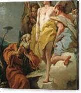 Abraham Y Los Tres Angeles  X   Cm  Canvas Print