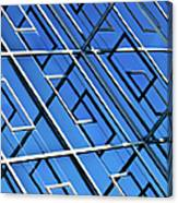 Abstract Geometric Reflection Canvas Print