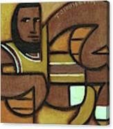 Abstract lebron James Holding Basketballs Art Print Canvas Print