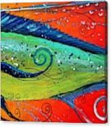 Abstract Mahi Mahi Canvas Print
