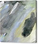 Abstract Watercolor Painted Canvas Print