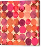 Abstract Watercolored Geometric Circles Canvas Print