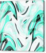 Abstract Waves Painting 0010111 Canvas Print