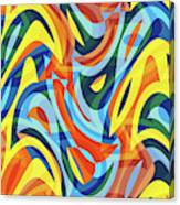 Abstract Waves Painting 007176 Canvas Print